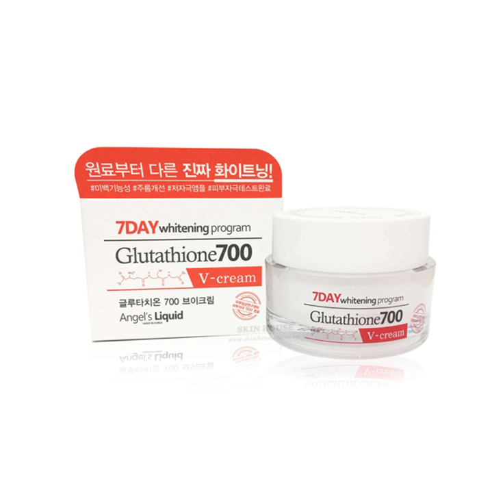 Kem Trắng Da 7Day Whitening Program Glutathione 700 V-cream