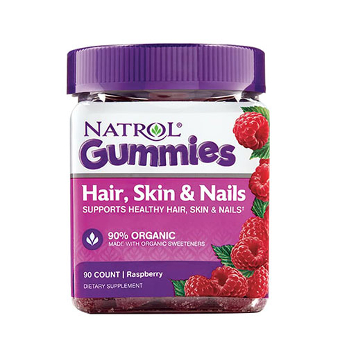 Kẹo Dẻo Đẹp Da Móng Tóc Natrol Gummies Hair Skin And Nails 90 Viên Mỹ