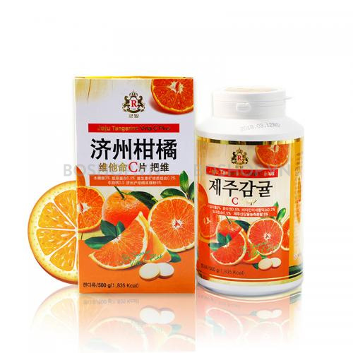 Viên Vitamin C Jeju Orange 500g 277 viên Hàn Quốc - Vitamin C từ cam quýt đảo Jeju