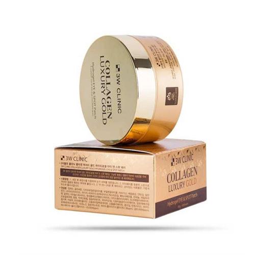 Mặt Nạ Trị Xóa Nhăn Vùng Mắt 3W Clinic Collagen Luxury Gold