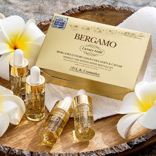 Serum Bergamo Luxury Gold Collagen And Caviar Hàn Quốc