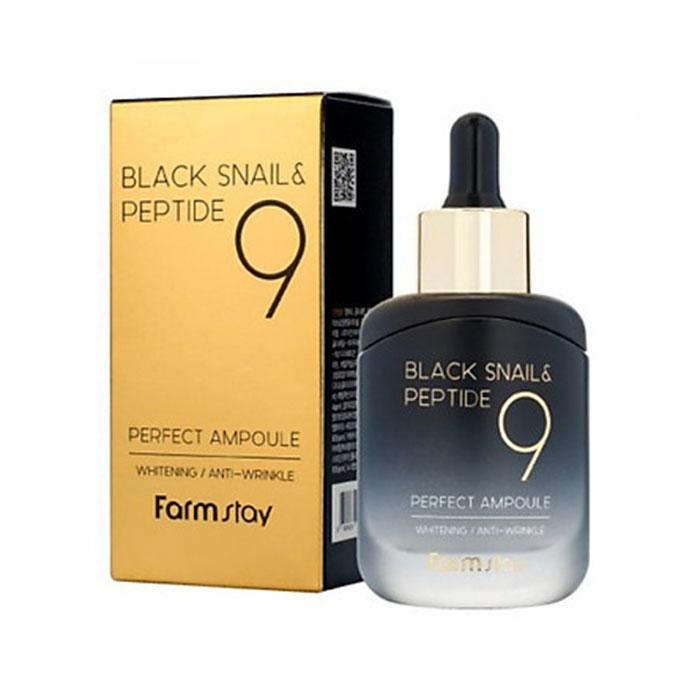 Serum dưỡng trắng và chống lão hóa từ ốc sên và Peptide 9-Black Snail & Perfect 9 Ampoule