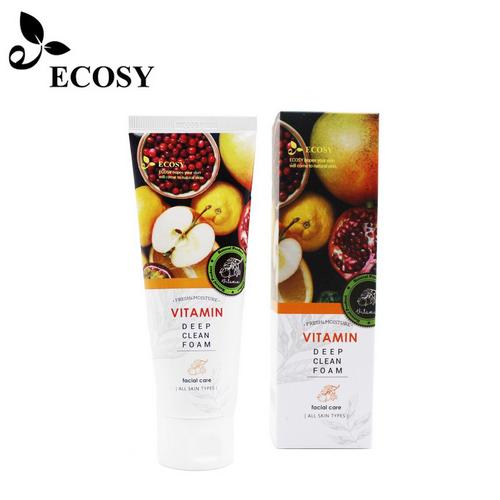 Sữa Rửa Mặt Ecosy Chiết Xuất Trái Cây Tươi - Ecosy Vitamin Deep Clean Foam 100ml