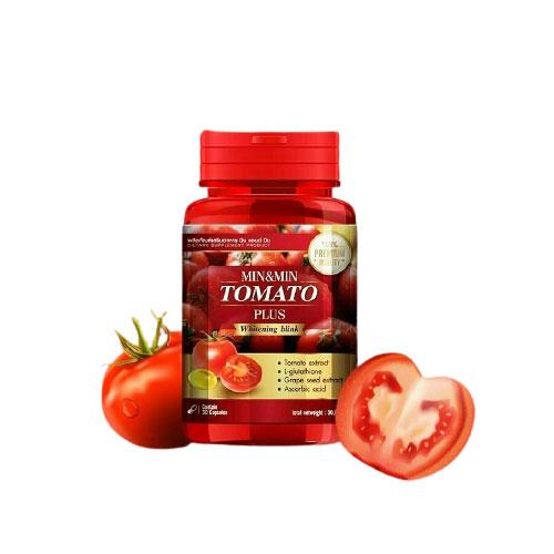Viên Uống Trắng Da Min And Min Tomato Plus Whitening Blink