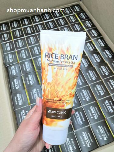 duong-da-mat-gel-tay-te-bao-chet-gao-3w-clinic-rice-bran-moisture-peeling-gel-180ml-6000