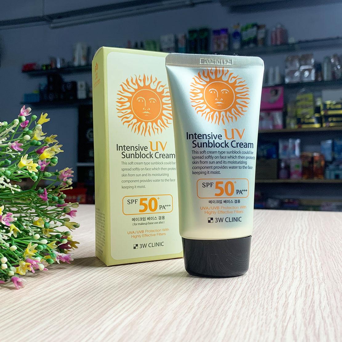 Kem chống nắng 3W Clinic Hàn Quốc bảo vệ da tối ưu
