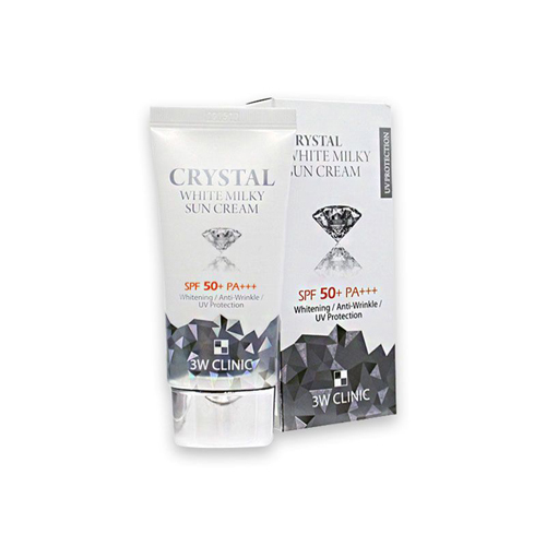 Kem Chống Nắng Crystal White Milky Sun Cream 3W Clinic