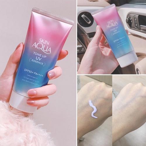 Kem Chống Nắng Rohto Skin Aqua Tone Up Essence 80gr Nhật Bản