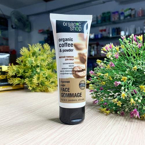 Kem Tẩy Da Chết Mặt Organic Shop Organic Coffee And Powder Của Nga