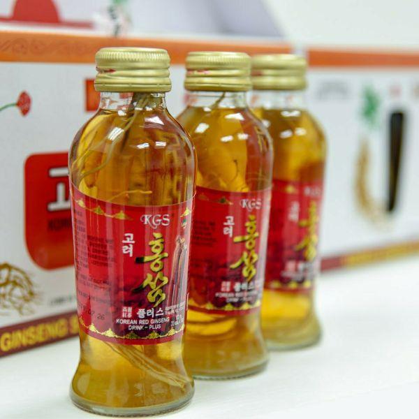 Nước Hồng Sâm Có Củ Won Ki Sam (120 ml x 10 chai)