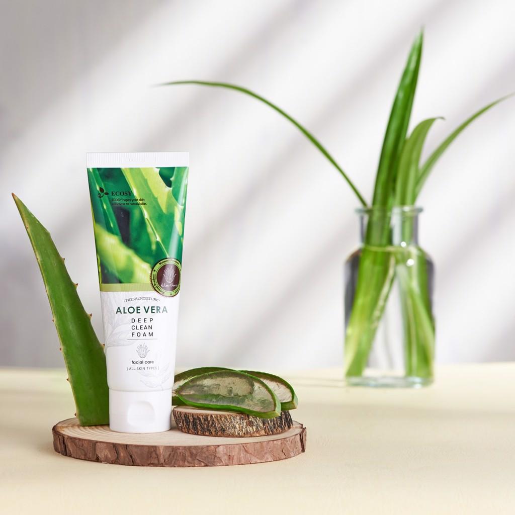 Sữa Rửa Mặt Ecosy Chiết Xuất Nha Đam - Ecosy Aloe Vera Deep Clean Foam 100ml