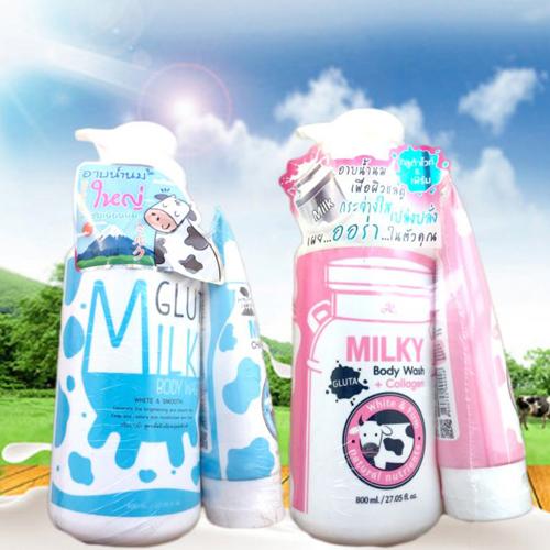 Sữa Tắm Milky Gluta Tặng Kèm Sữa Rửa Mặt Milky Gluta Chính Hãng Thái