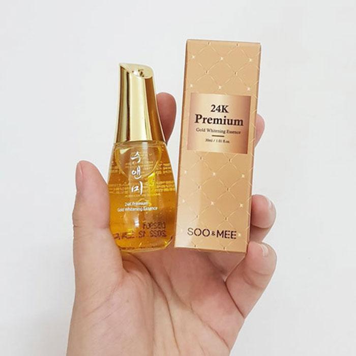 Tinh Chất Vàng Soo & Mee 24K Premium Gold Whitening Essence