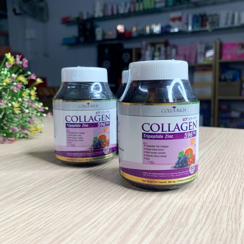 Viên Uống Trắng Da Collagen Colla Rich Tripeptide Zinc 596mg