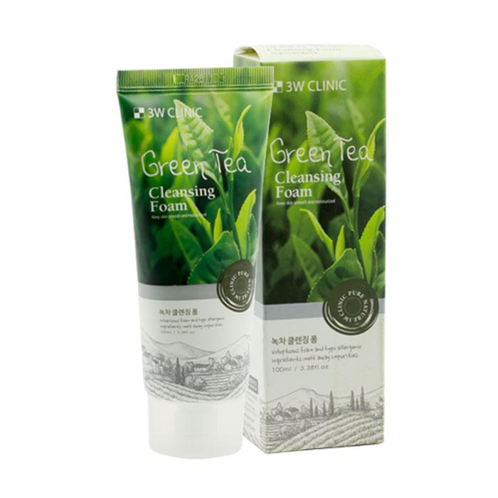Sữa Rửa Mặt Chiết Xuất Trà Xanh 3W Clinic Green Tea Foam