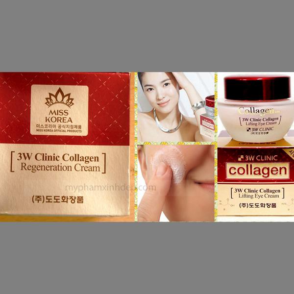 Kem Dưỡng Trắng Da Chống Lão Hóa 3W Clinic Collagen