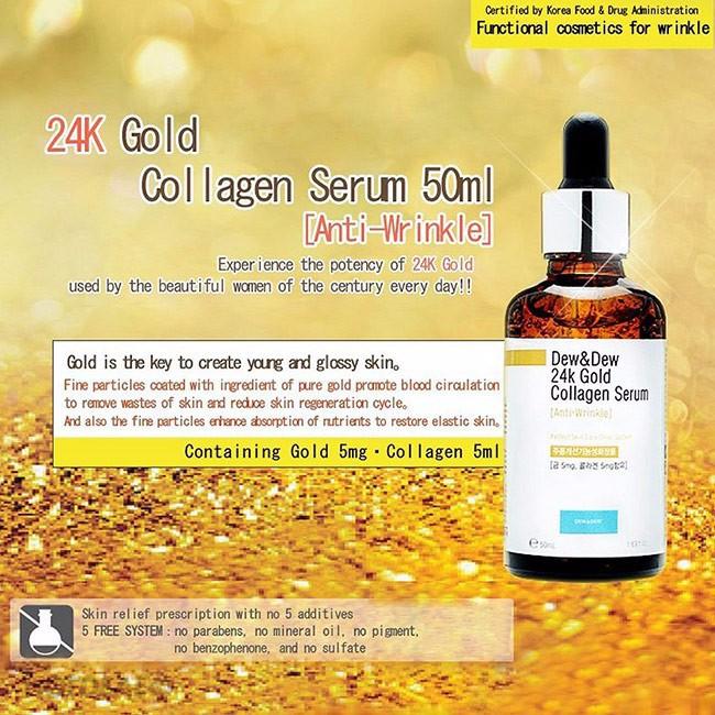 Serum Dew And Dew 24K Gold Collagen Chính Hãng Hàn Quốc