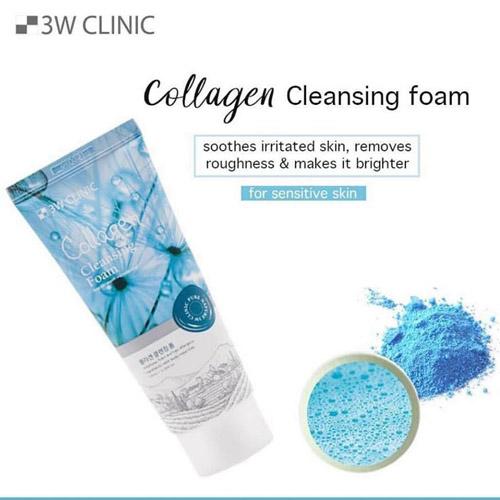 Sữa Rửa Mặt Chiết Xuất Collagen 3W Clinic 100ml
