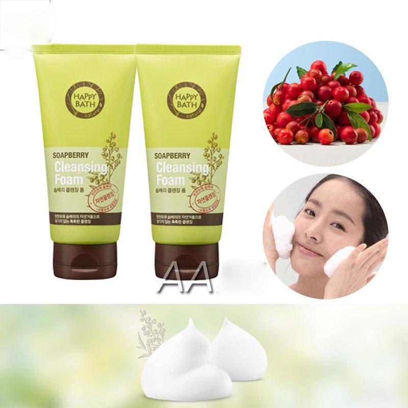 Sữa Rửa Mặt Đặc Trị Mụn Happy Bath Nature Soapberry Cleansing Foam