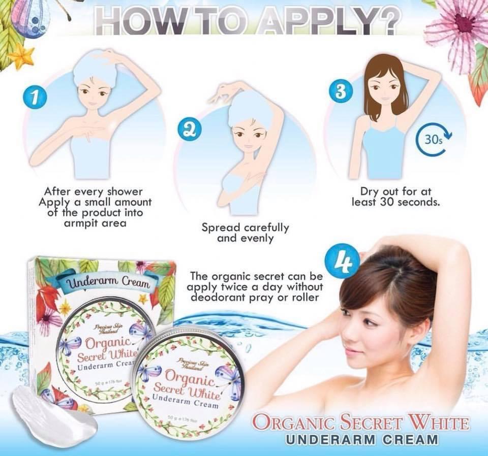 Kem Trị Thâm Nách Organic Secret White Underarm Cream