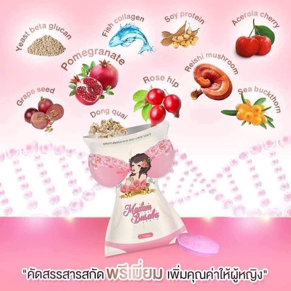 Nở ngực trắng da Madam Busaba Thái Lan