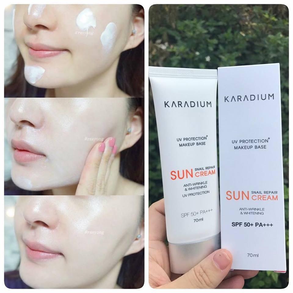 Kem Chống Nắng Karadium Snail Repair Sun Cream SPF 50 Plus PA