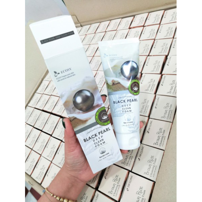 Sữa Rửa Mặt Ecosy Chiết Xuất Ngọc Trai Đen - Ecosy Black Pearl Deep Clean Foam 100ml